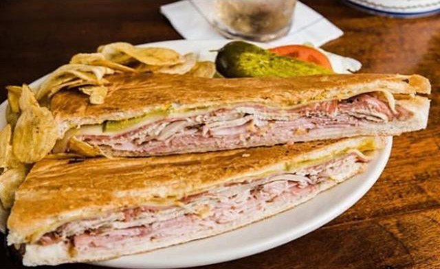Cuban sandwich at The Columbia in Tampa, Florida