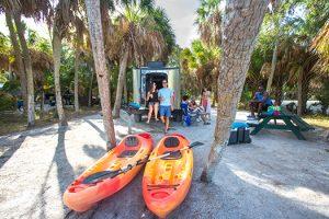 Beachside camping on Florida's Gulf Coast