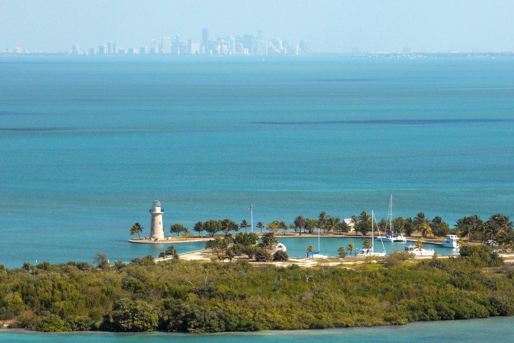 Biscayne Bay National Park with Miami skyline