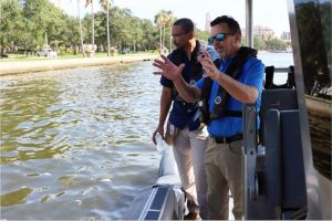 FWC officials are on the move around Tampa Bay sampling for red tide